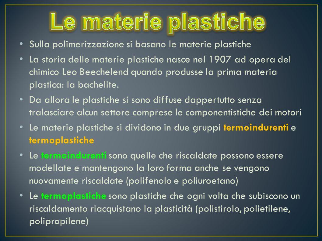 Le materie plastiche Sulla polimerizzazione si basano le materie plastiche.