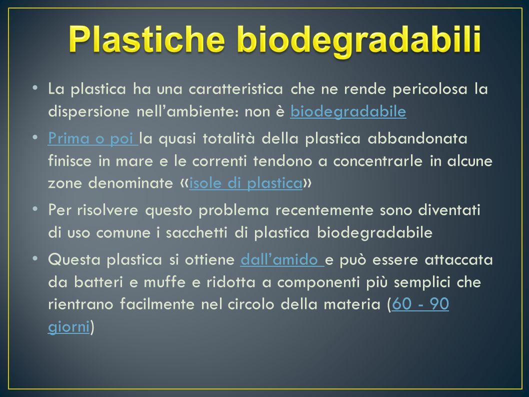 Plastiche biodegradabili