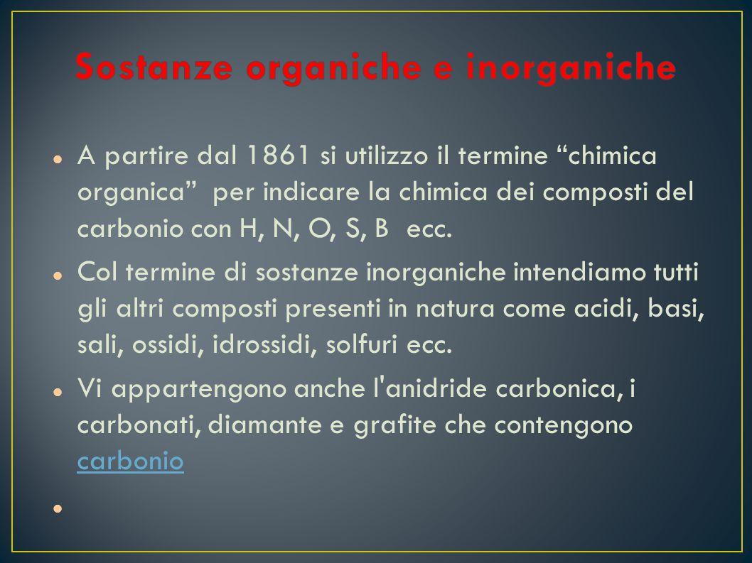 Sostanze organiche e inorganiche