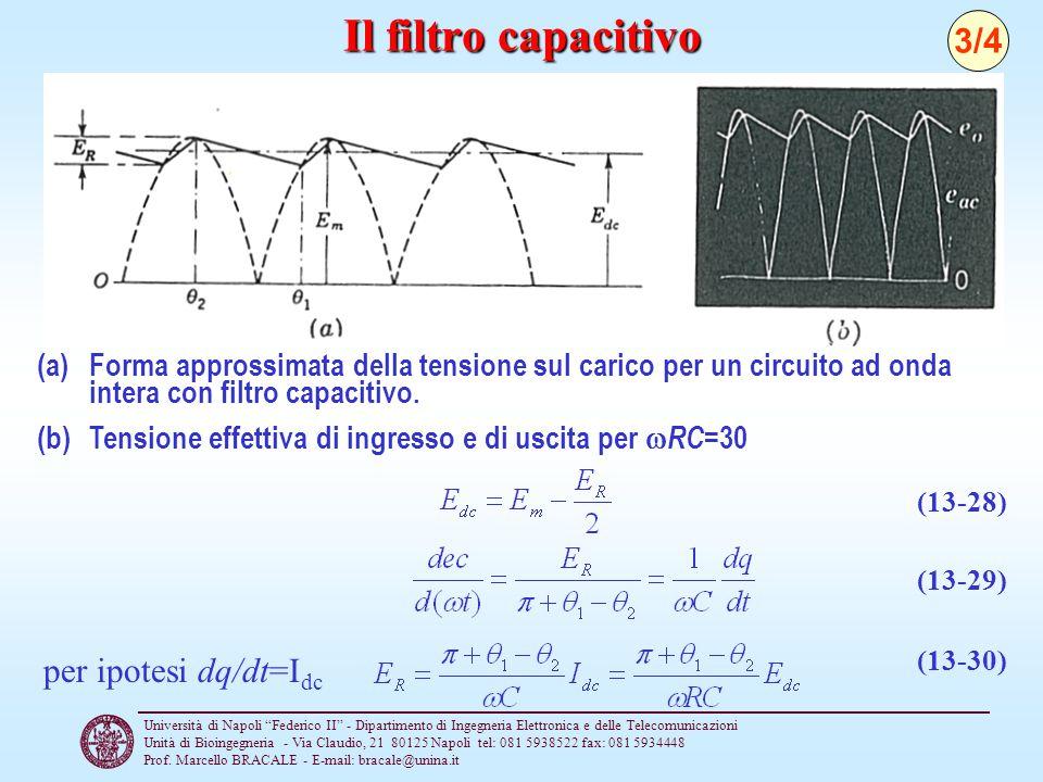 Il filtro capacitivo 3/4 per ipotesi dq/dt=Idc