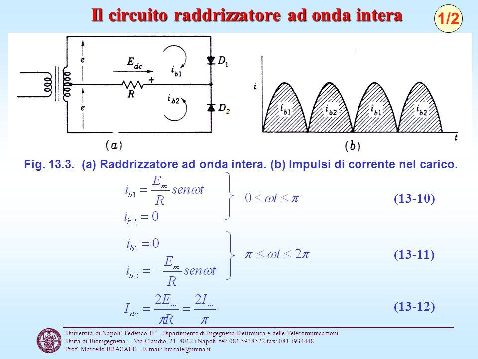 Il circuito raddrizzatore ad onda intera