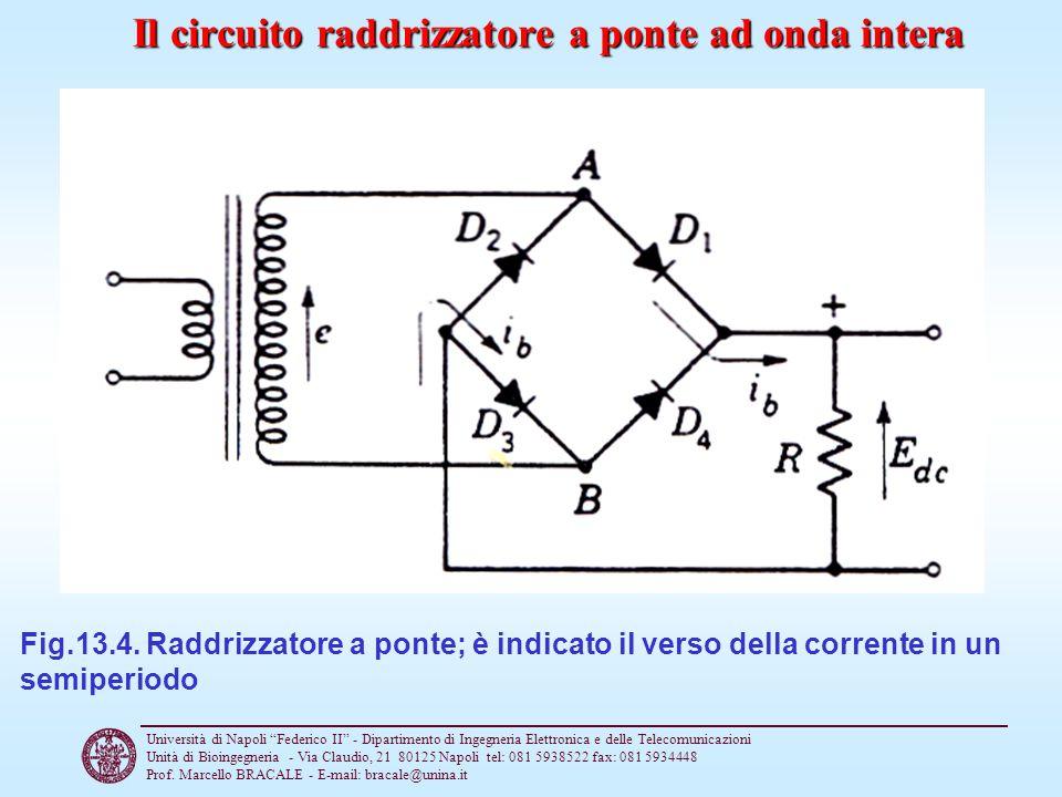 Il circuito raddrizzatore a ponte ad onda intera