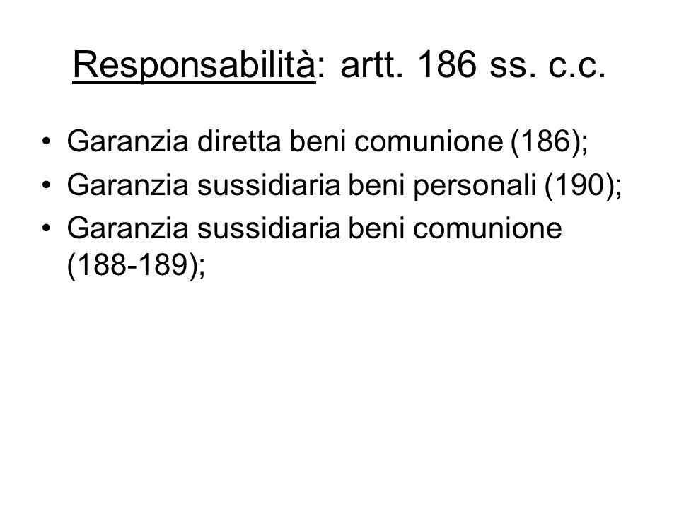 Responsabilità: artt. 186 ss. c.c.