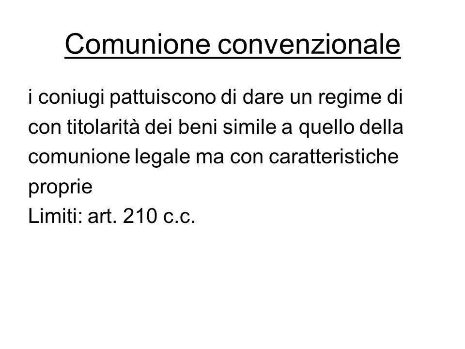 Comunione convenzionale