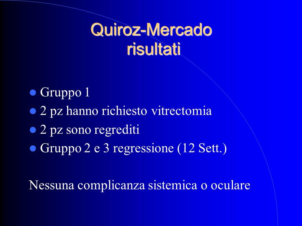 Quiroz-Mercado risultati