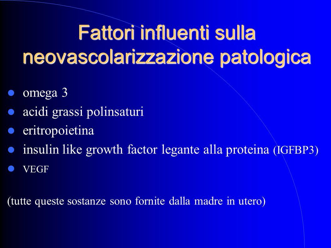 Fattori influenti sulla neovascolarizzazione patologica