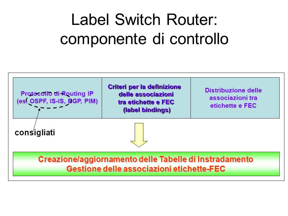 Label Switch Router: componente di controllo