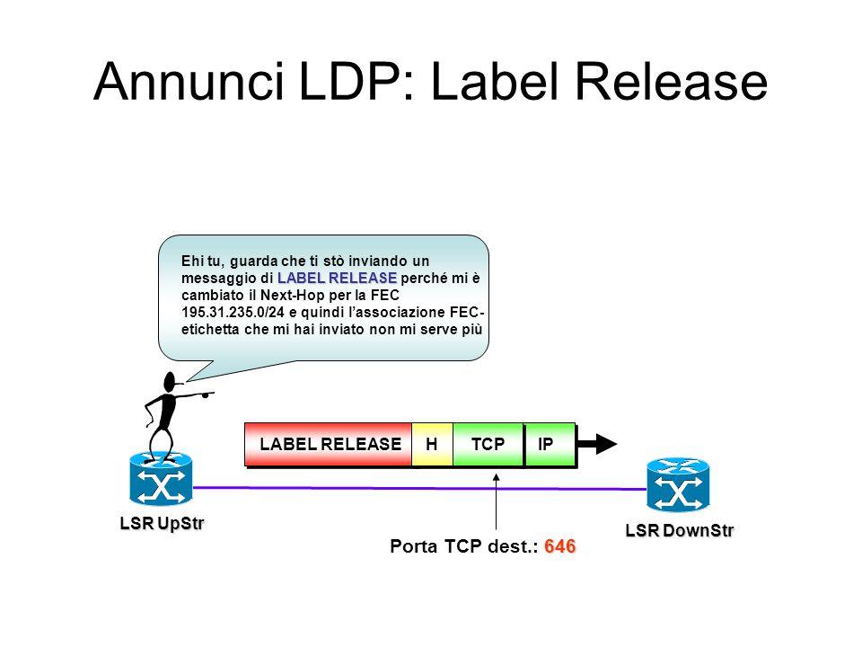 Annunci LDP: Label Release
