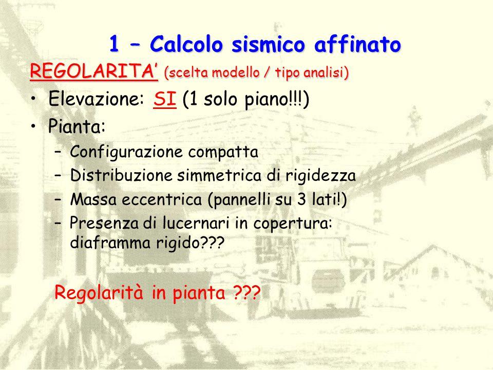 1 – Calcolo sismico affinato