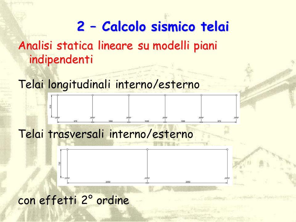 2 – Calcolo sismico telai