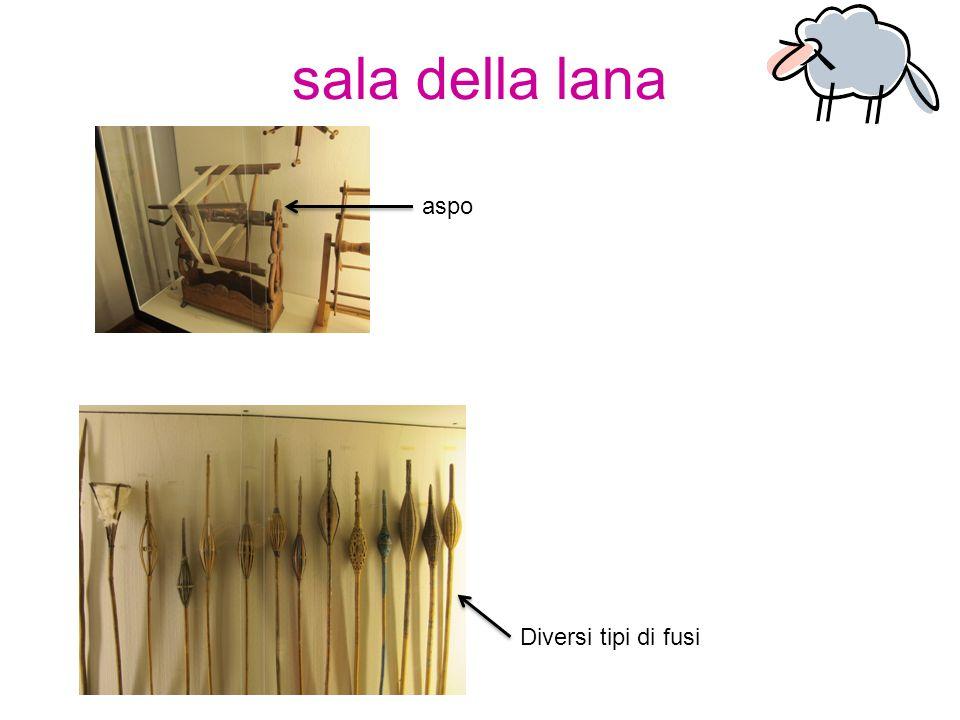 sala della lana aspo Diversi tipi di fusi