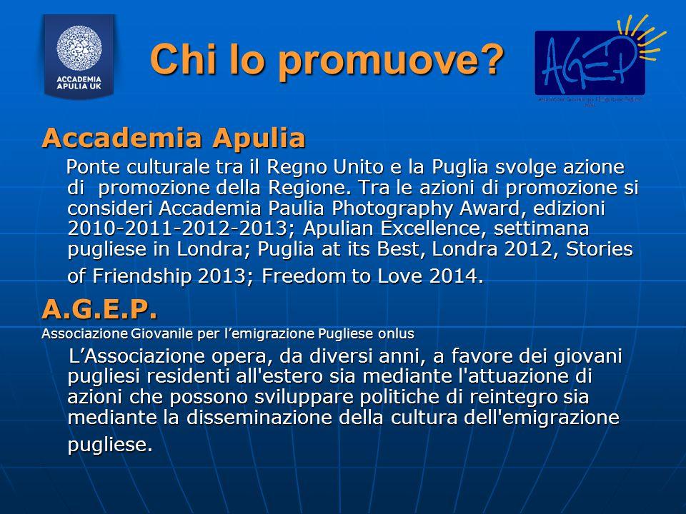 Chi lo promuove Accademia Apulia A.G.E.P.