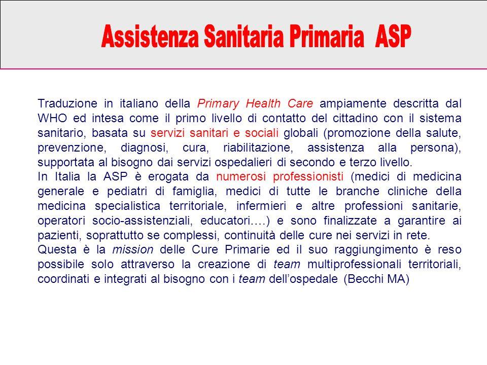 Assistenza Sanitaria Primaria ASP