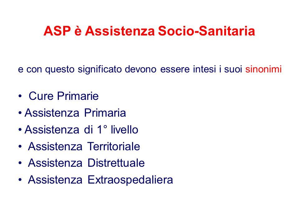 ASP è Assistenza Socio-Sanitaria