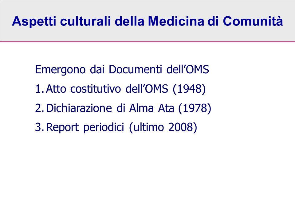 Aspetti culturali della Medicina di Comunità