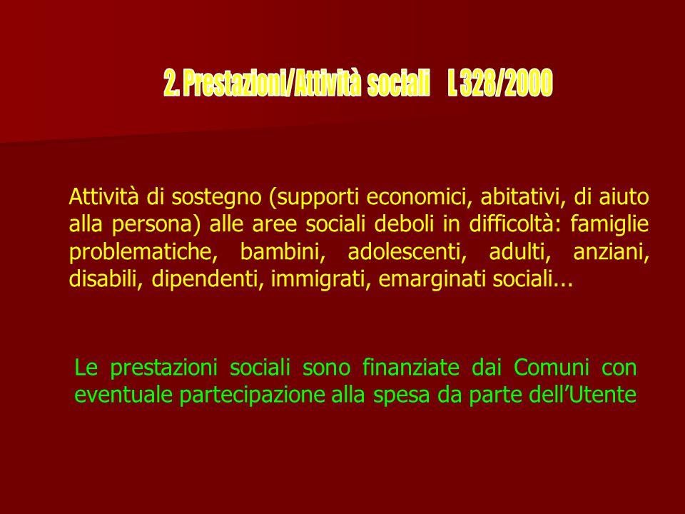 2. Prestazioni/Attività sociali L 328/2000