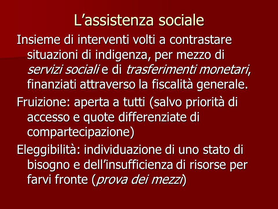 L'assistenza sociale