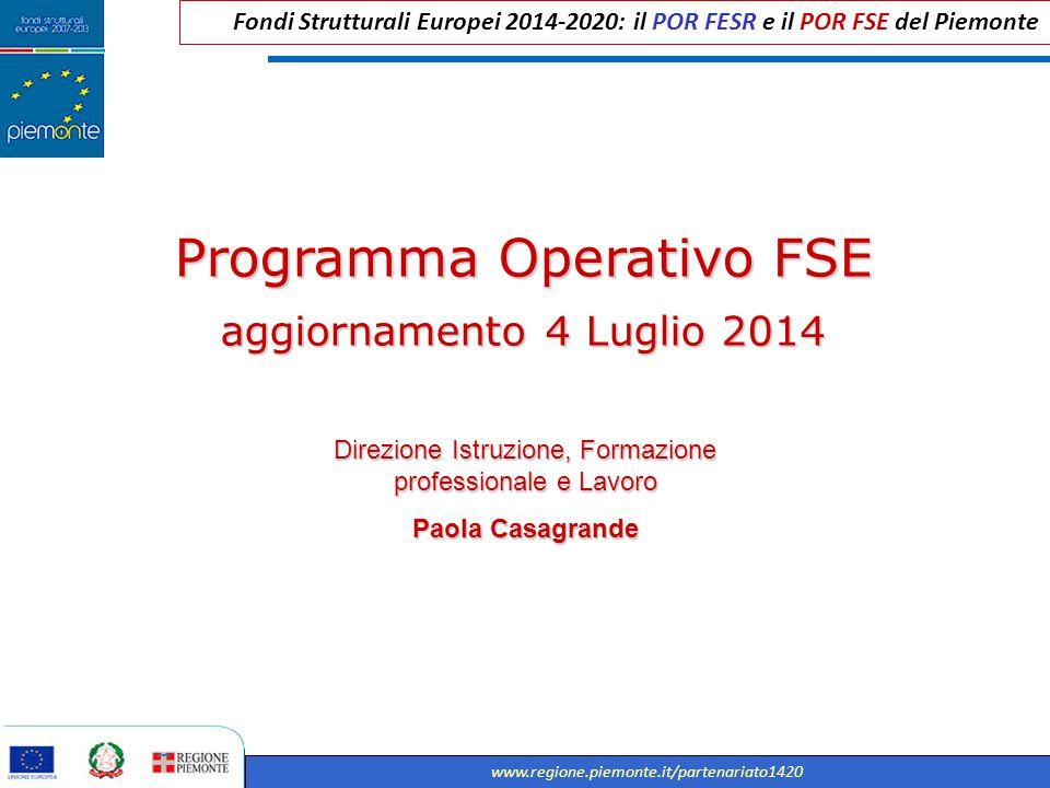 Programma Operativo FSE