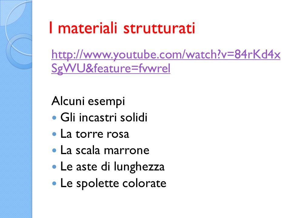 I materiali strutturati