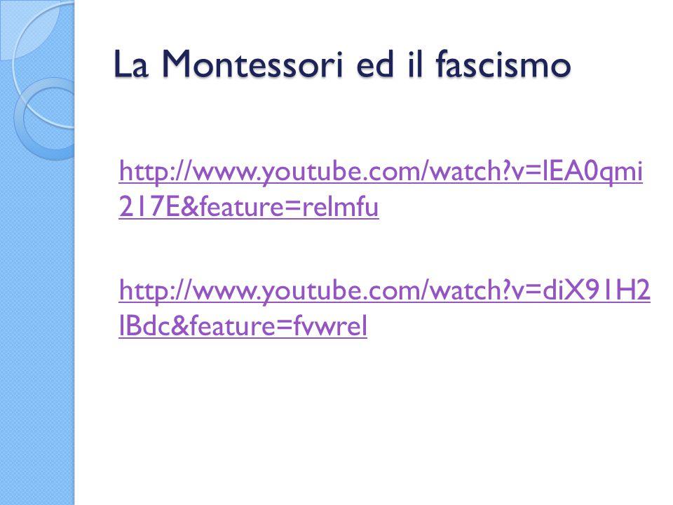 La Montessori ed il fascismo