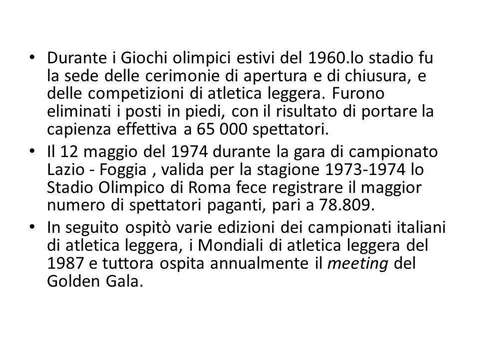 Durante i Giochi olimpici estivi del 1960