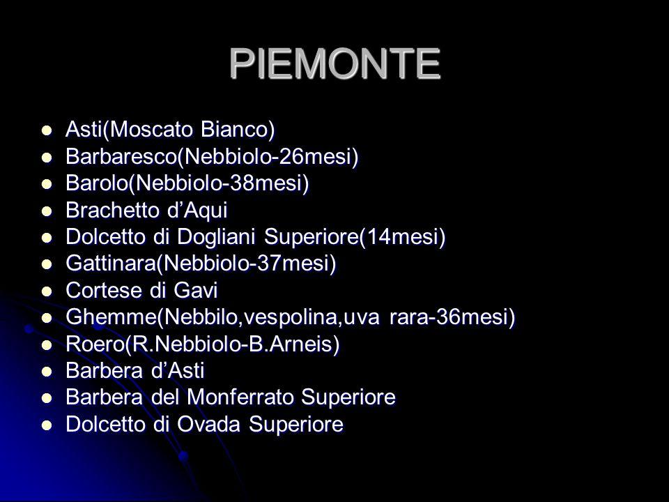 PIEMONTE Asti(Moscato Bianco) Barbaresco(Nebbiolo-26mesi)