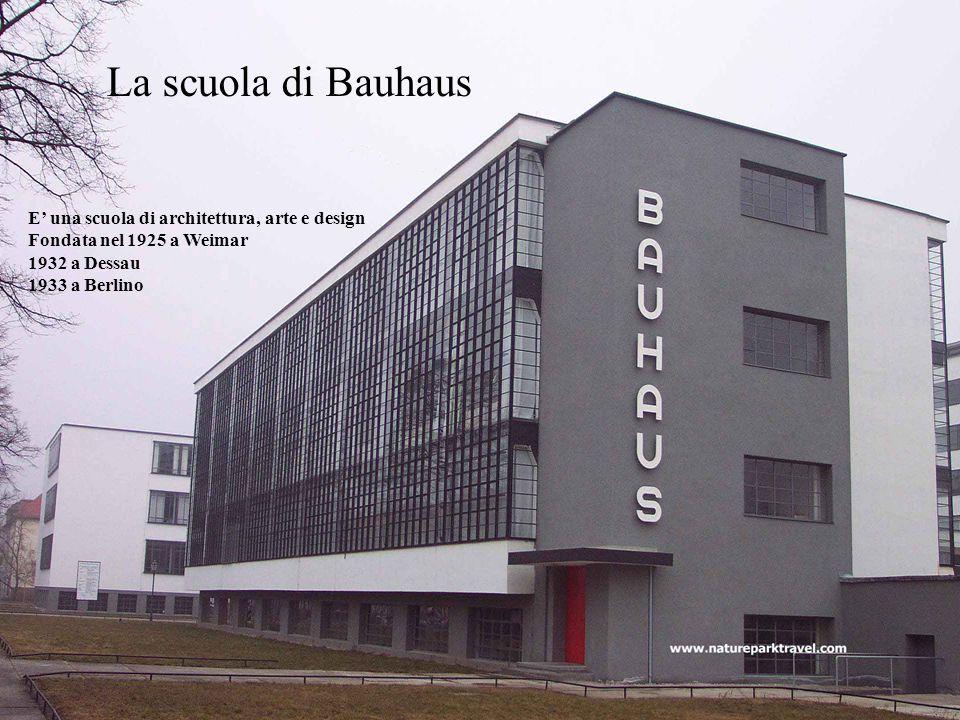La scuola di Bauhaus E' una scuola di architettura, arte e design