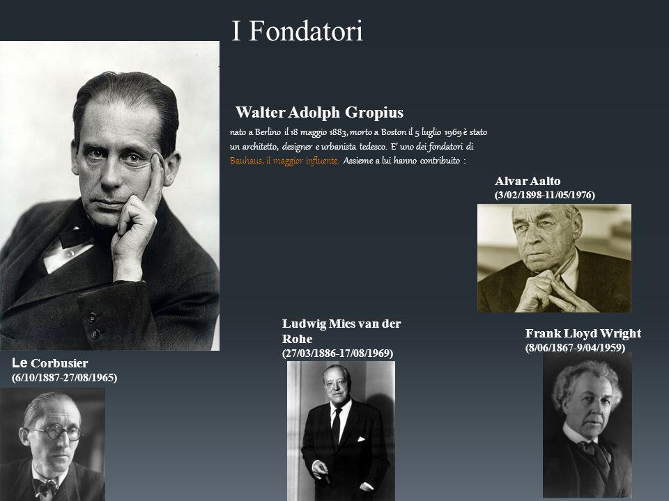 I Fondatori Walter Adolph Gropius