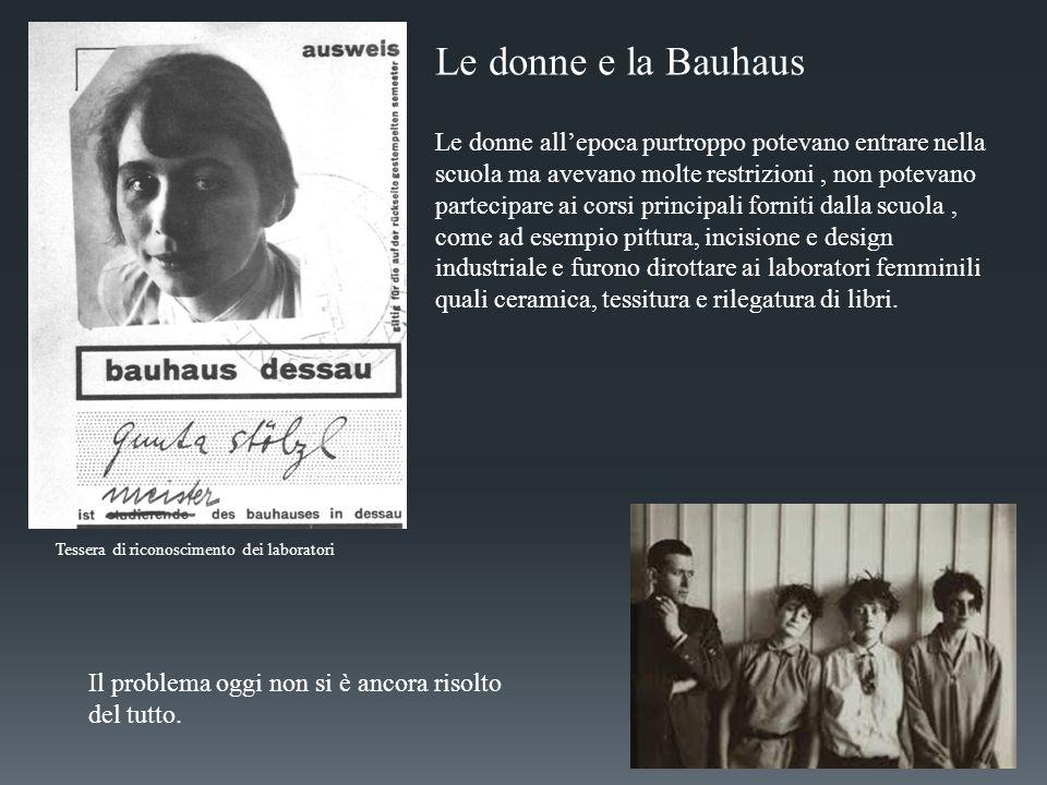 Le donne e la Bauhaus