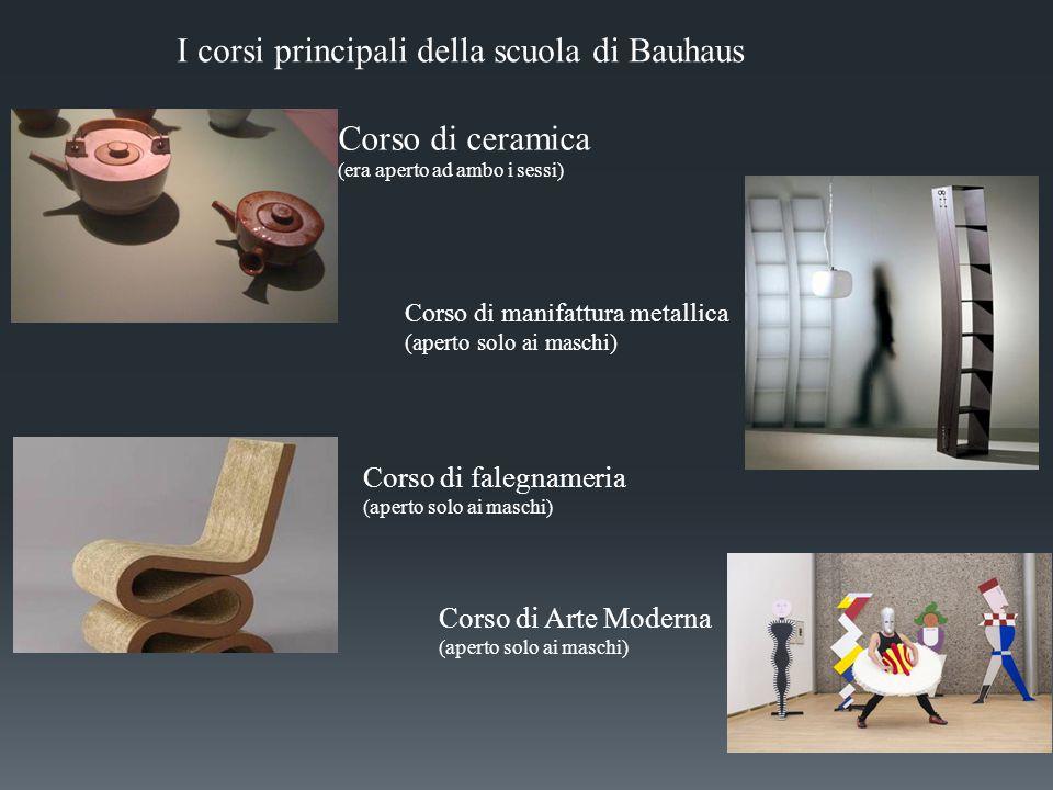 I corsi principali della scuola di Bauhaus