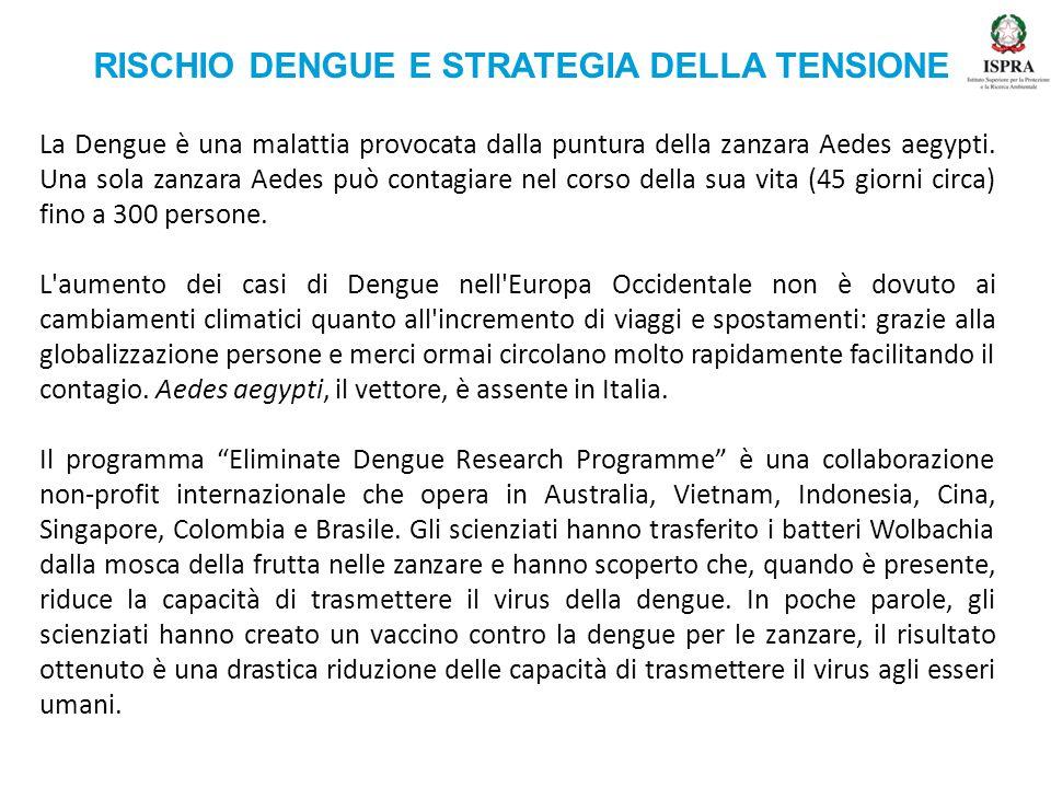 RISCHIO DENGUE E STRATEGIA DELLA TENSIONE