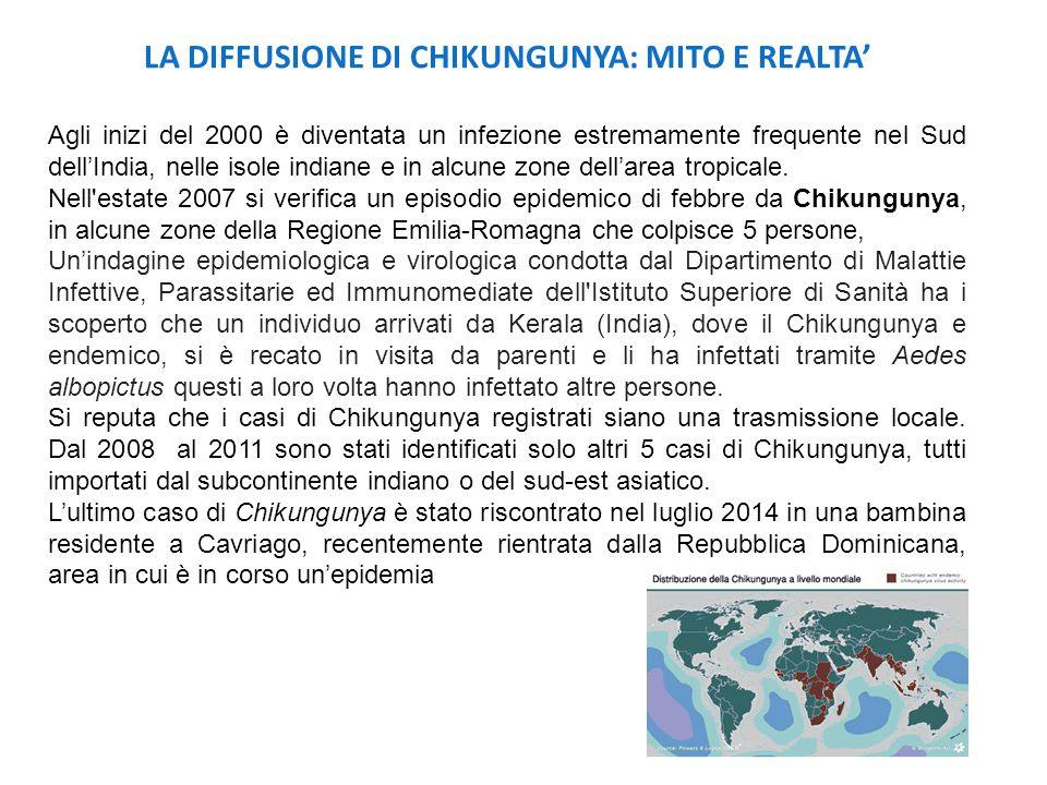 LA DIFFUSIONE DI CHIKUNGUNYA: MITO E REALTA'