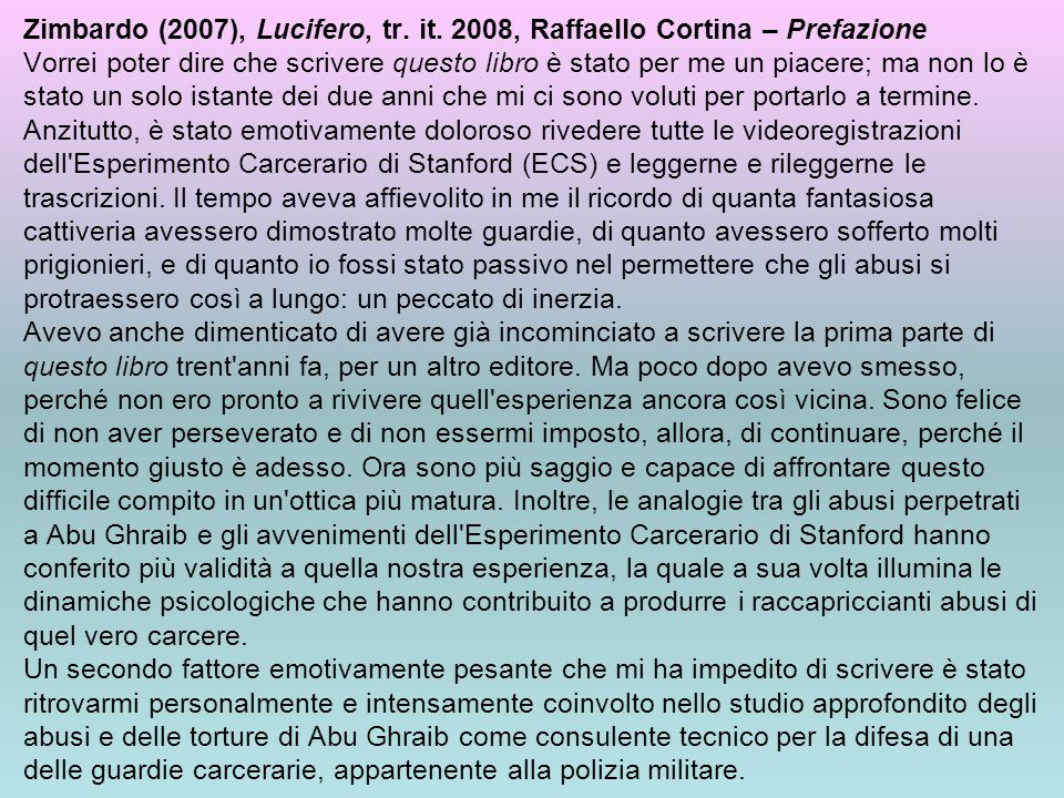 Zimbardo (2007), Lucifero, tr. it