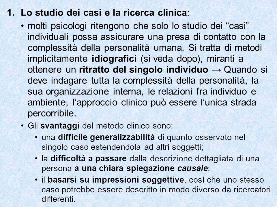Lo studio dei casi e la ricerca clinica: