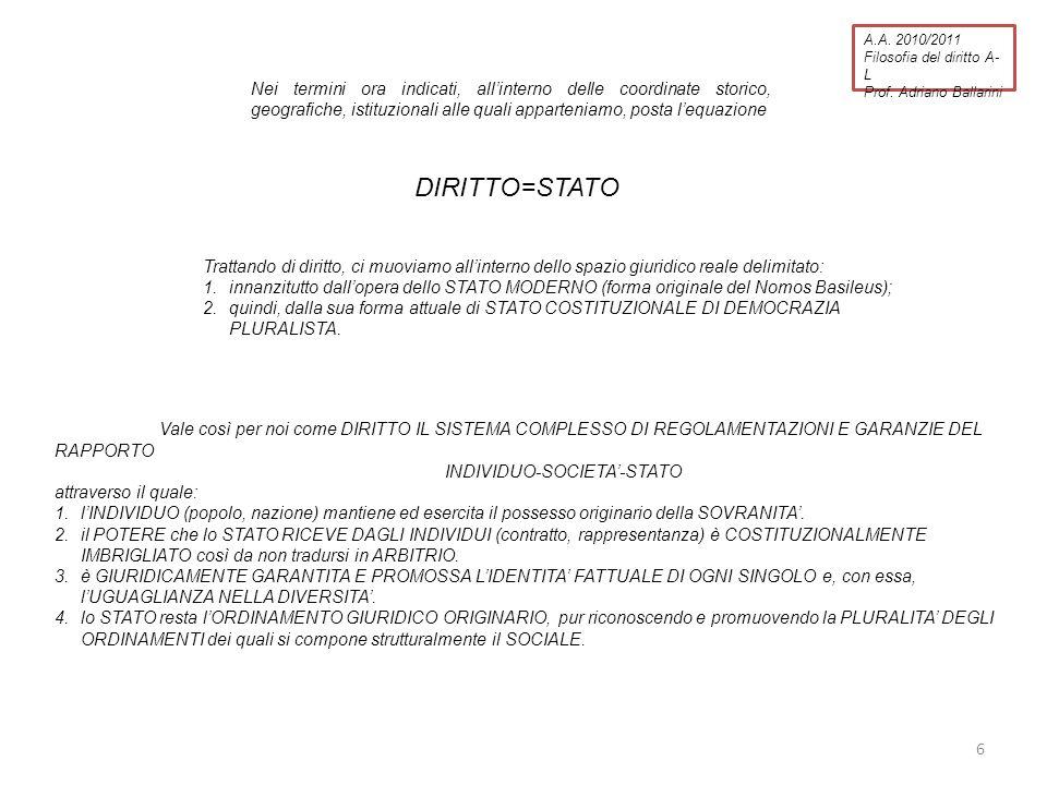 Adriano Ballarini Filosofia del diritto I