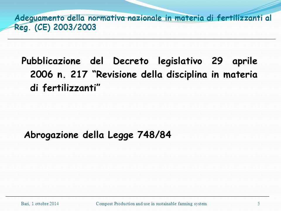 Abrogazione della Legge 748/84