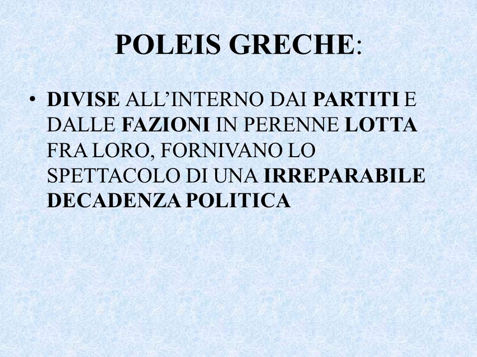 POLEIS GRECHE: