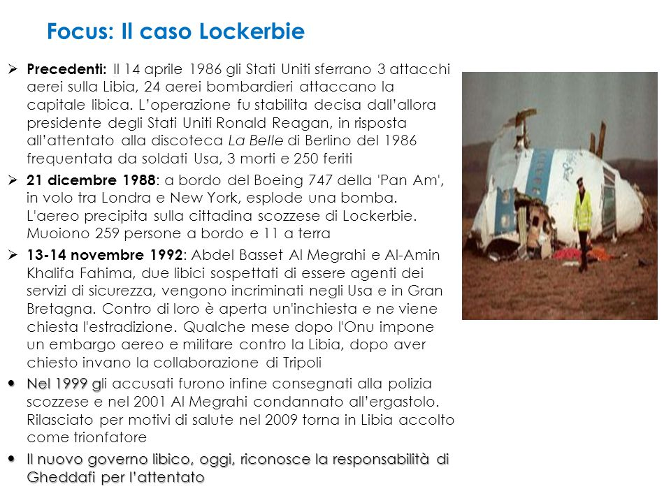Focus: Il caso Lockerbie
