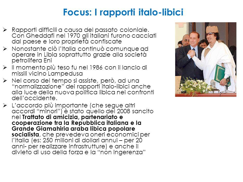 Focus: I rapporti italo-libici