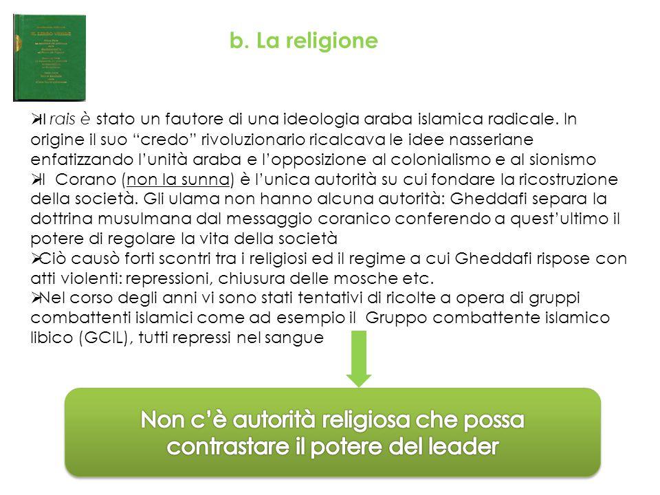 Non c'è autorità religiosa che possa contrastare il potere del leader