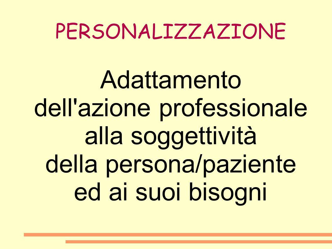 dell azione professionale alla soggettività della persona/paziente