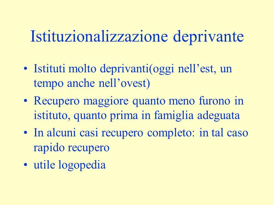 Istituzionalizzazione deprivante