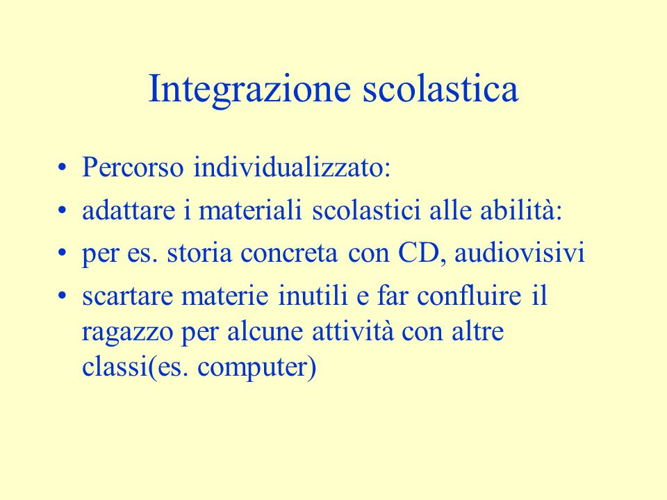 Integrazione scolastica