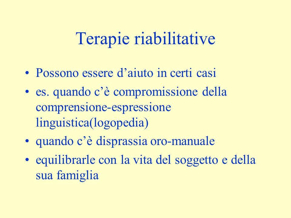 Terapie riabilitative