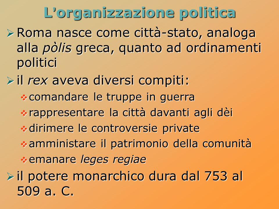 L'organizzazione politica