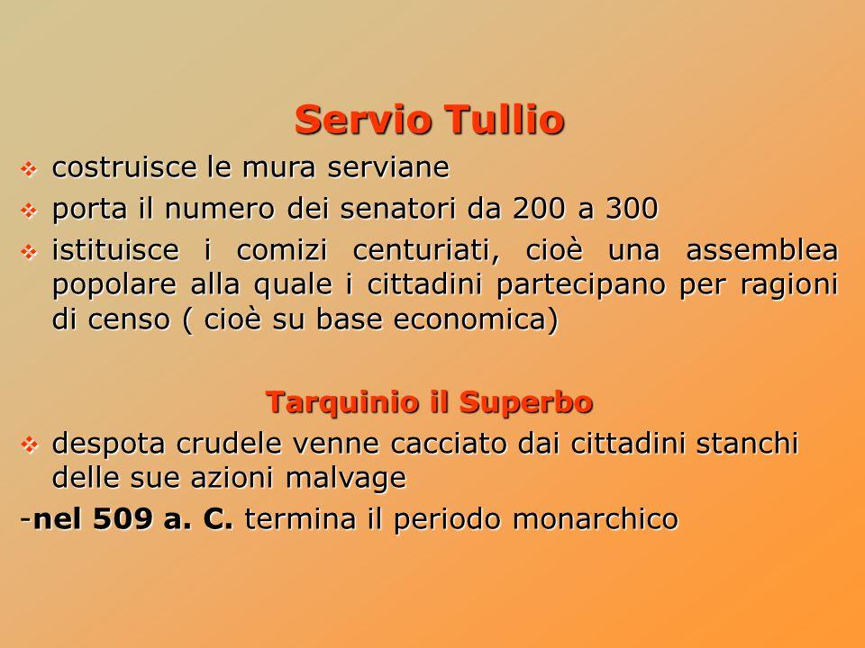 Servio Tullio costruisce le mura serviane