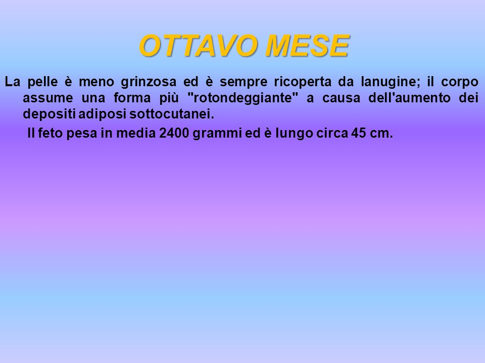 OTTAVO MESE