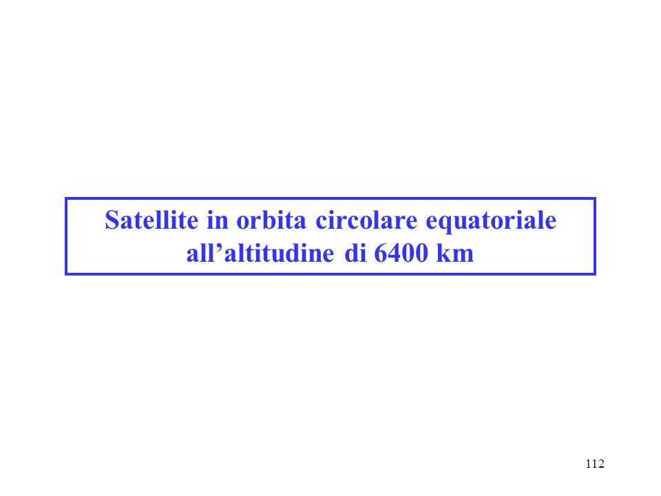 Satellite in orbita circolare equatoriale