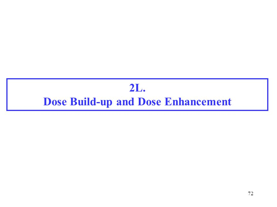 Dose Build-up and Dose Enhancement