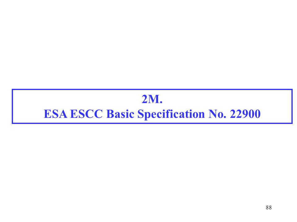 ESA ESCC Basic Specification No. 22900